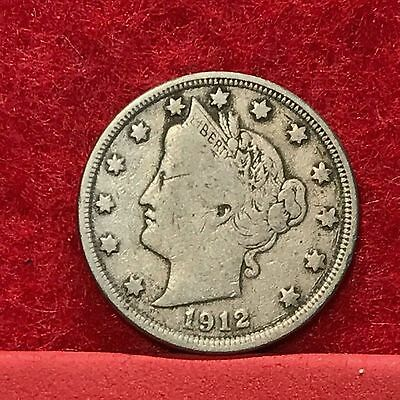 1912 U.S. Liberty 'V' Nickel --FINE--