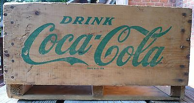 Vintage 1969 French And English Drink Buvez Coca Cola Coke Wooden Crate Carrier