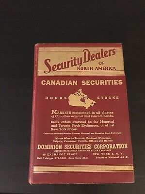 Security Dealers Of North America - Canadian Securities - Bonds - Stocks - 1963