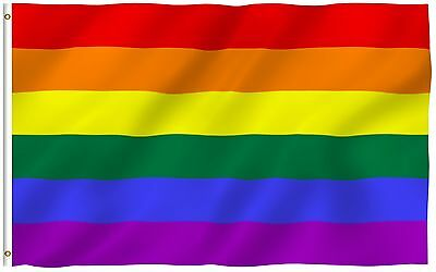 ANLEY Rainbow Flag Gay Pride Lesbian LGBT Homosexual Rights Banner Flag 3x5 Foot