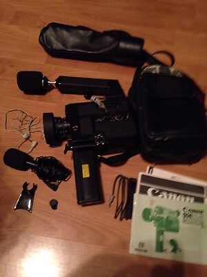 CANON 514XL-S Canosound Super8 movie cam & Boom Mic BM70 For Parts Or Not Workin