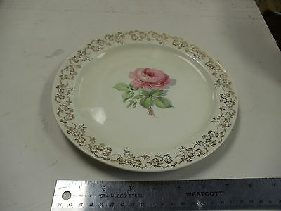 """Vintage Taylor Smith & Taylor Conversation Pink Rose  9 1/4"""" Dinner (More Avail)"""