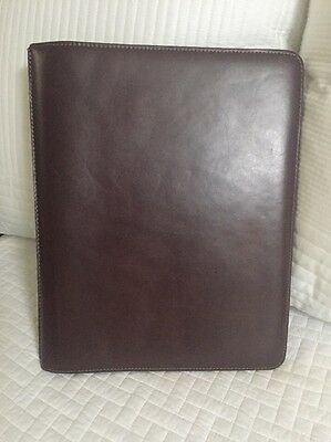Johnston & Murphy Leather Portfolio Notepad Brown Cognac Mahogany
