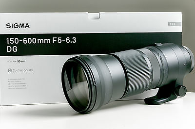 SIGMA 150-600mm f5-6.3 DG OS HSM CONTEMPORARY AF FOR CANON EF 2 MOS OLD PERFECT
