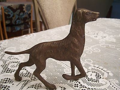 Solid Brass Hunter Pointer Statue / Figurine