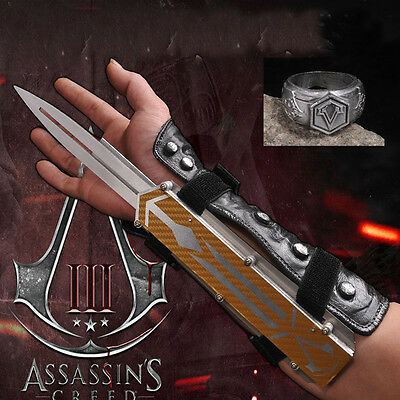 Assassin's Creed Hidden Blade Cosplay Alloy Catapult No Sharped Props Edward Cos