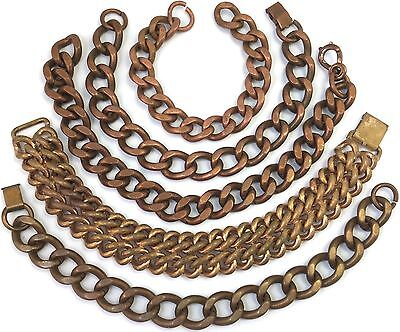 Vintage Jewelry Repair Craft Lot Copper Tone Metal Chain Link Bold