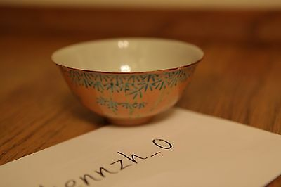 Antique Chinese Asian Porcelain Bowl Late Qing 19th Century Famille Rose FenCai
