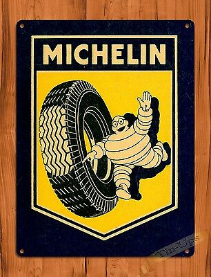 "TIN-UPS TIN SIGN ""Michelin Ad"" Michelin Man Vintage Garage Tires Wall Decor"