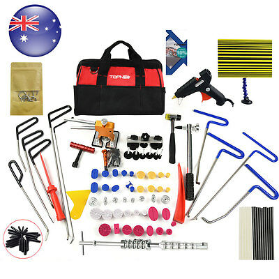 PDR Kit Repair Dent Puller Rods Paintless Hail Damage Ding Tools Removal Tools
