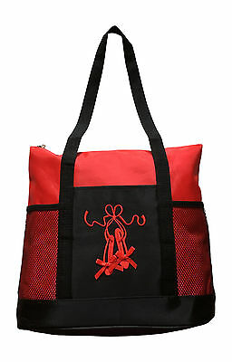 Girls Dance Tote Bag Ballet Slippers Large Red