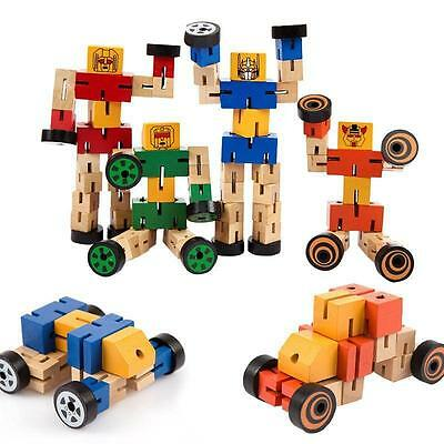 Transformers Robot Wooden Toy Autobot Wood Educational Puzzle Toy