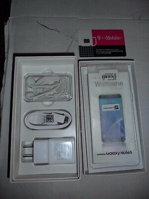 Samsung Galaxy NOTE 5 Empty Box With Ear buds & USB charger- Instruction Manual