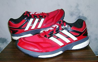 Men's ADIDAS RESPONSE BOOST TechFit Size 12 Shoes Red/Black/White FAST SHIPPING!
