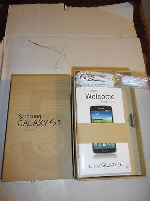 Samsung Galaxy S 5 Empty Box With Instruction Manual & Ear buds