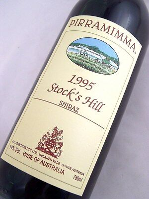 1995 PIRRAMIMMA Stocks Hill Shiraz Isle of Wine