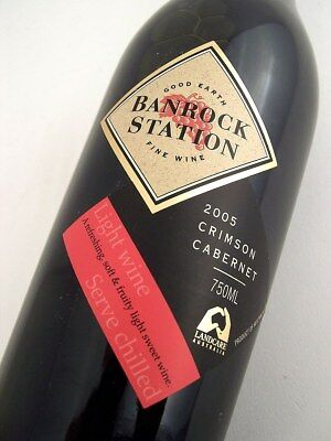 2005 BANROCK STATION Wines Crimson Cabernet Blend Isle of Wine
