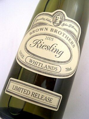 2005 BROWN BROTHERS Limited Release Whitlands Riesling Isle of Wine