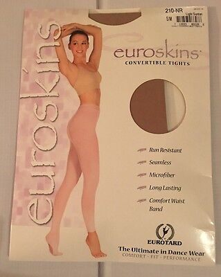 Euroskins Convertible Tights~ Light Suntan Size S/m ~Style 210-Nr