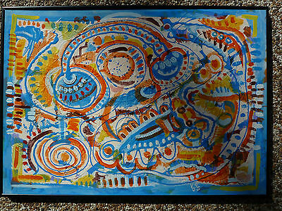 """Witchetty Grubs"" large original painting  by Australian artist Vlado Janevski"