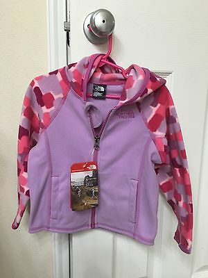 Brand New!! The North Face Toddler Girl Glacier Fleece hoodie Size 3T