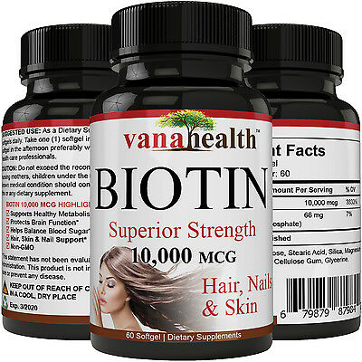 BIOTIN 10,000 MCG - Designed for Hair Growth, Strong Nails and Healthy Skin