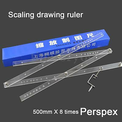 50cm Drawing Enlarger Reducer Tool Plexiglass Artist Pantograph Copy Craft