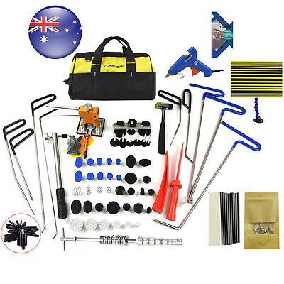 PDR Rods Tools Hail Puller Removal Paintless Dent Repair Lifter Kits  Line Board