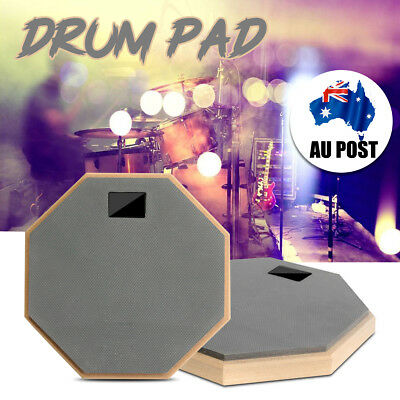 8'' Rubber&Wood Drum Practice Pad Silencer Quiet Mute Beginner Training Drumpad