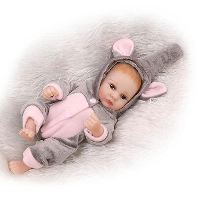 "11"" Handmade Real Looking Newborn Baby Girl Silicone Vinyl Realistic Reborn Doll"