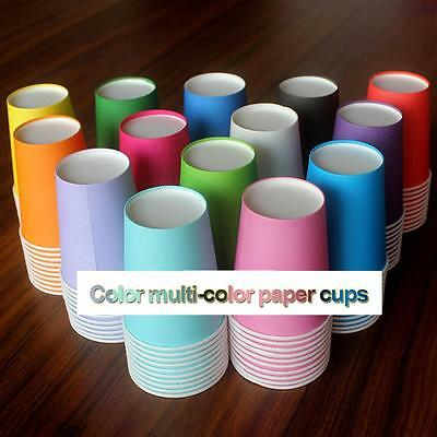 Disposable Paper Cups Plastic Supplies s New Solid Candy Color  20 pcs/lo,