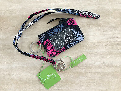 New Vera Bradley Zip Id coin Case and Lanyard set in Northern Lights NWT