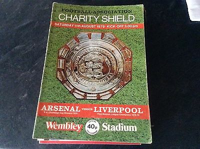 Arsenal V Liverpool 11/8/79 Charity Shield Final