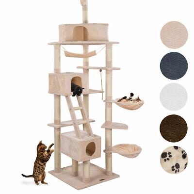 happypet Arbre à chat Griffoir Grattoir 230-260cm CAT015-4 Couleurs Diverses