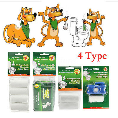 Earth Friendly Eco Friendly Dog Puppy Waste Biodegradable Poo Bags / Dispenser