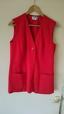 1970's Vintage/Retro Red Women's Suit & Skirt