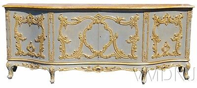 VMD1487_ Large Italian Regency Style Antique Faux Painted Marble Sideboard
