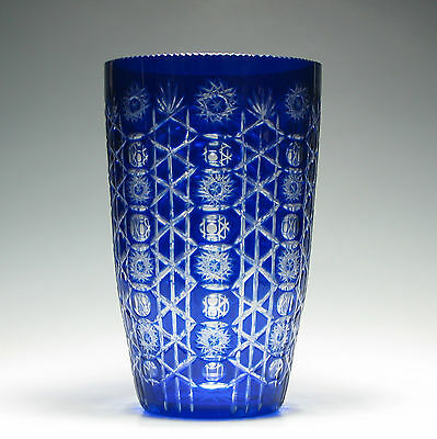 Large French Cut Glass Vase c1910