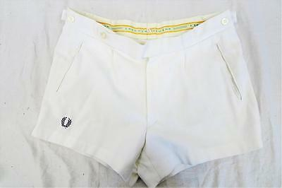 Vintage FRED PERRY Tennis/Sports SHORTS    White    UK 12-14         460 Y
