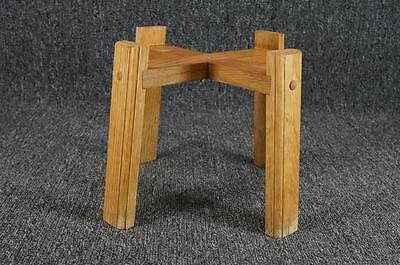 """Wooden 4 Footed Jar Holder Stand 10 3/4"""" x 7 1/2"""""""