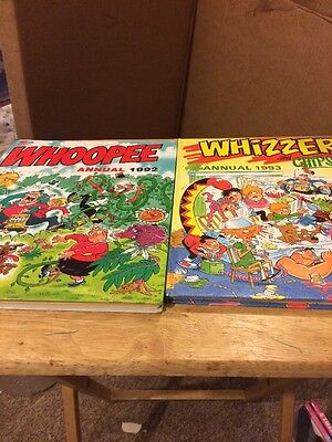 Vintage Whopper Annual 1992 And Whizzed And Chips Annual 1993 Used