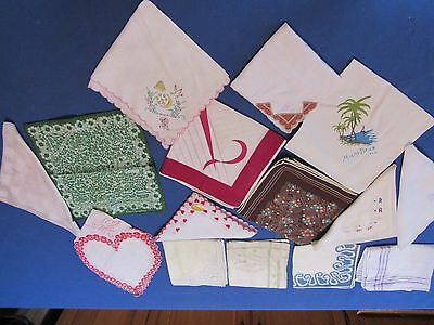15  Womens Vintage Pretty  Handkerchiefs Hankies