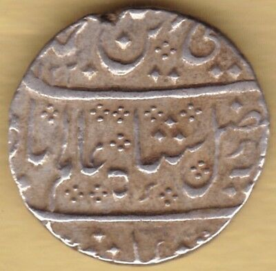 French India Ah1220 Silver One Rupee Arkat Mint #d15