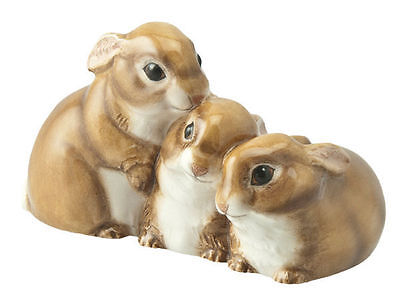 John Beswick Collectors Wildlife Animal Figurine - Bunnies Rabbits