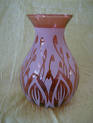 Kelsey Pilgrim Cranberry Glass Vase