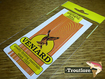 Veniard Orange Synthetic Quills - New Fly Tying Quill Body Material