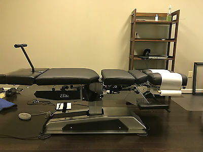Chiropractic Table -  Used Elite Manual Flexion With Elevation And Drops