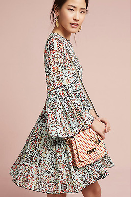 ee7d1634ad90 NEW Anthropologie Bhanuni by Jyoti Libra Embroidered Floral Tunic Dress 4  $158