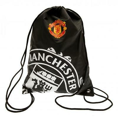 Manchester United Gym Bag RT PE Swim Black Gift Fan Official Licensed Product
