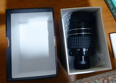 "1.25"" Zoom eyepiece for telescope - 7.5mm to 22.5mm EX William Optics"